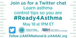 Join the AAAAI and AAFA for two Twitter chats May 18.