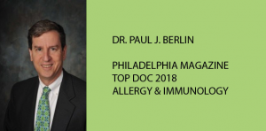 DR. PAUL J. BERLIN TOP DOC 2018 for ALLERGY & IMMUNOLOGY